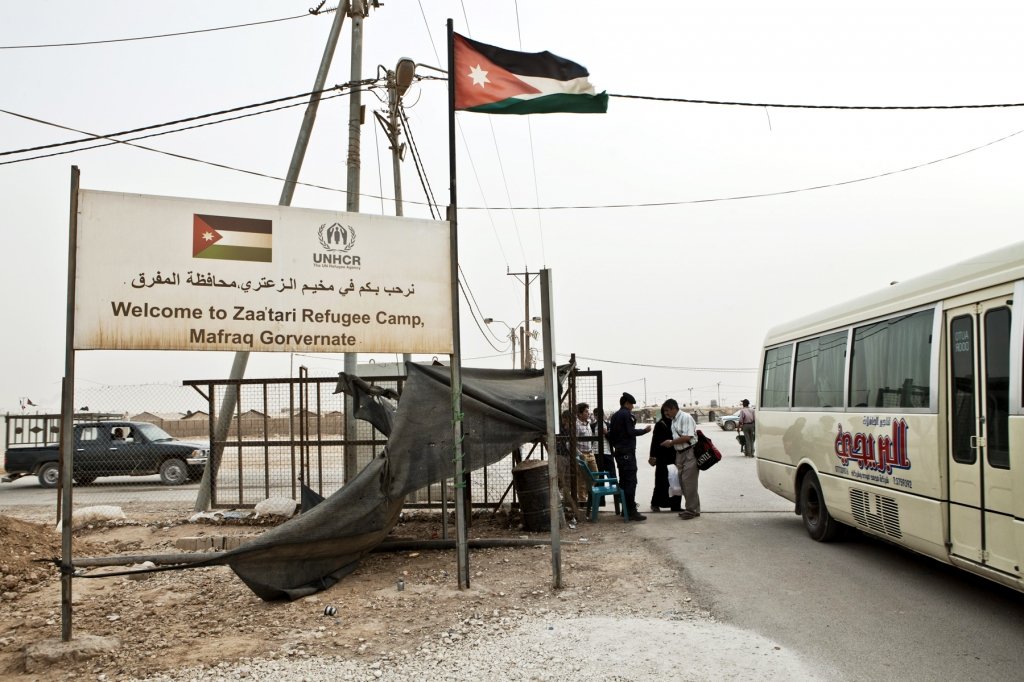 The entrance of Zaatari camp near Mafraq (source: Hollandse Hoogte)
