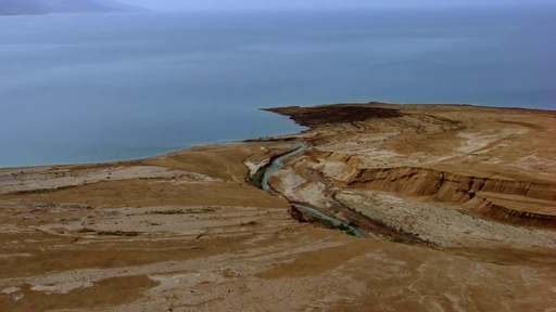 River Jordan draining into the Dead Sea.