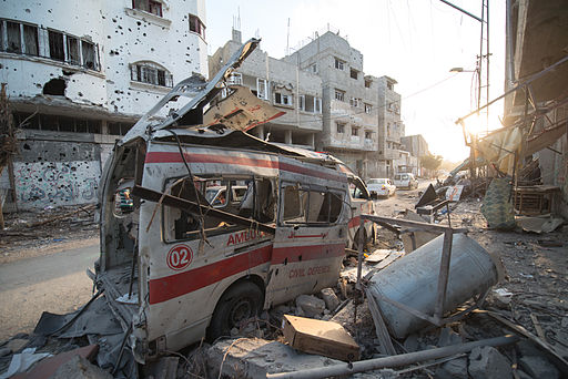 Destruction in Gaza during the 2014 military operation. By Boris Niehaus.