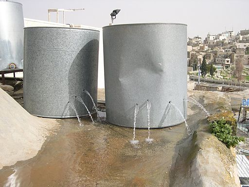 Palestinian water tanks destroyed by settlers in Hebron. By ISM Palestine.