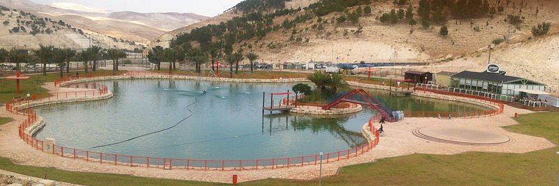 Artificial lake, Ma'ale Adumim- one of the biggest Jewish Settlements in the Westbank. By AgadaUrbanit.