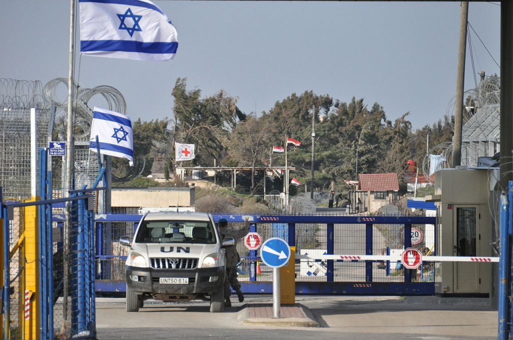 UN-controlled border crossing between Syria and Israel on the Golan Heights. Photo: Escla.
