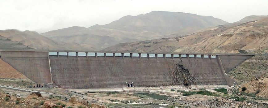 Al Mujib Dam, Jordan. Photo: Bernard Gagnon.