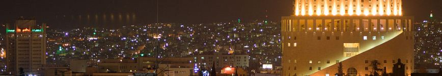 View of Amman by night, Jordan. Photo: David Bjorgen.