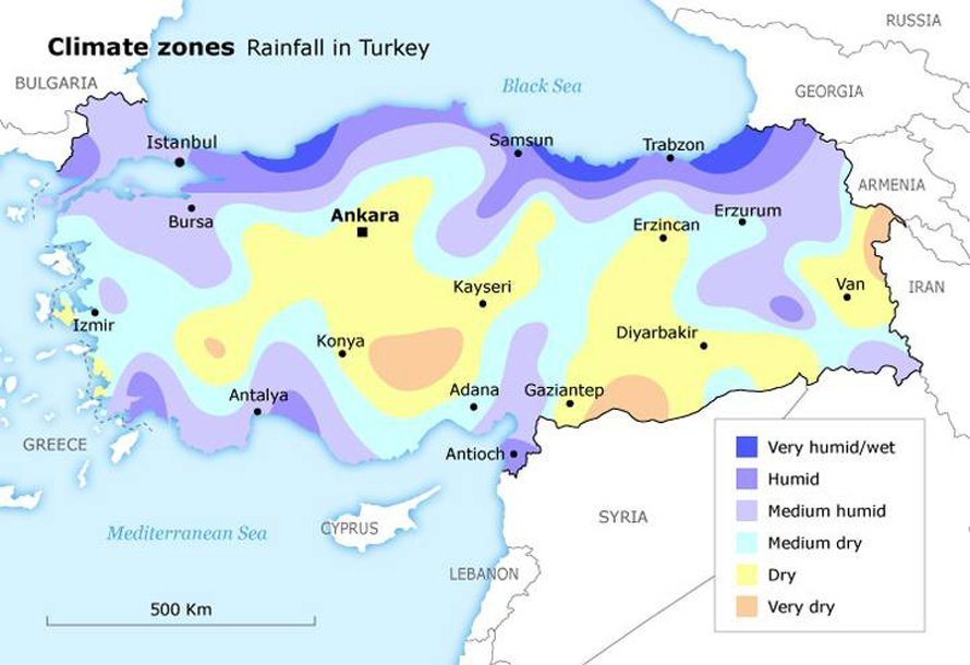Rainfall Distribution in Turkey