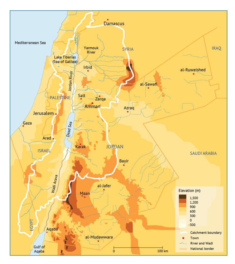 Catchment of the Dead Sea