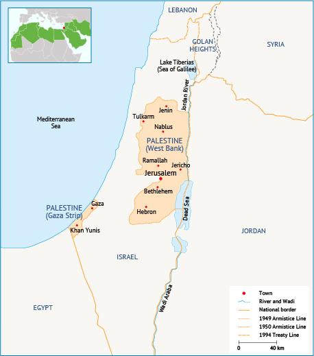 Palestine. Source: Fanack after UNICEF, 2015.