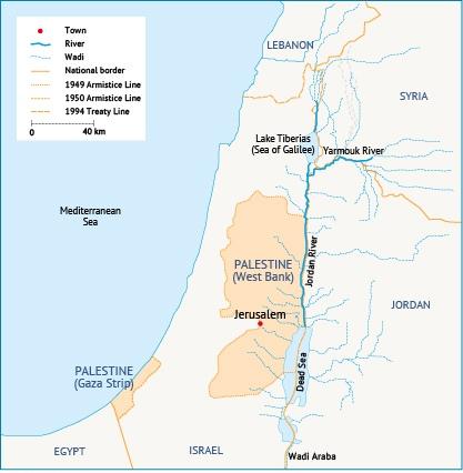 The Jordan River Basin. Source: Fanack after ARIJ.
