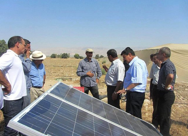 USAID grant helped farmers put solar energy to use in powering the desalination process. Photo by Diaa Karajeh.