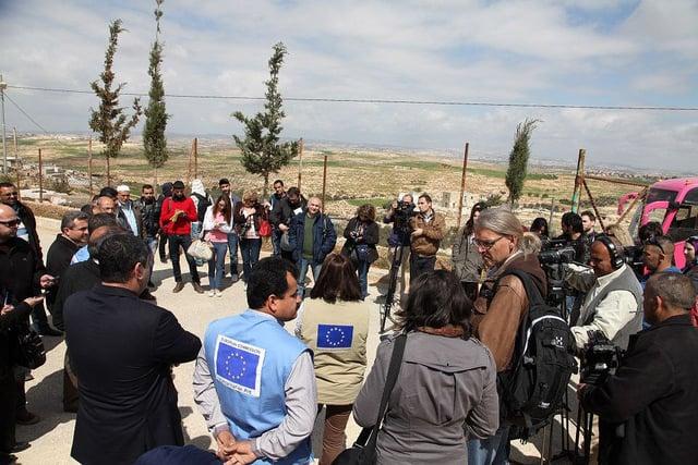World Water Day Media Tour in West Bank. Photo: ECHO Jerusalem