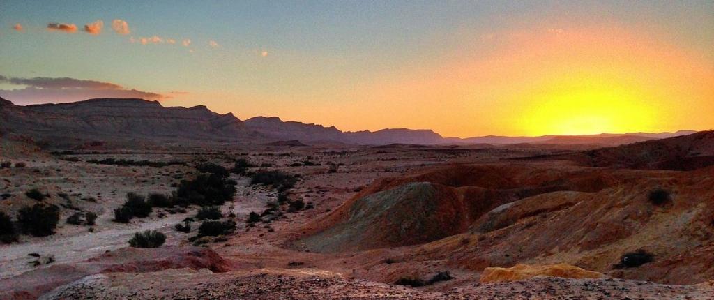 Sunset in the Negev Desert, Israel. Photo: Matthew Parker.