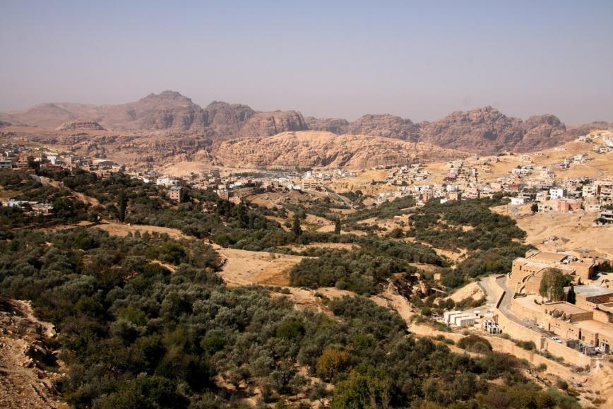 View over Wadi Musa and Petra, Jordan. Photo: Jamiembrown.