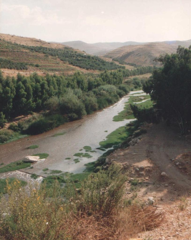 Zarqa River, Jordan. Photo: Dr. Meierhofer.