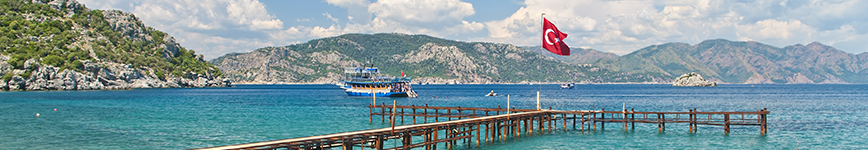 turkey water - flag pole at water front - availability and use of water resources