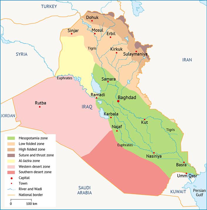 مناطق الهيدروجيولوجية في العراق موارد المياه في العراق
