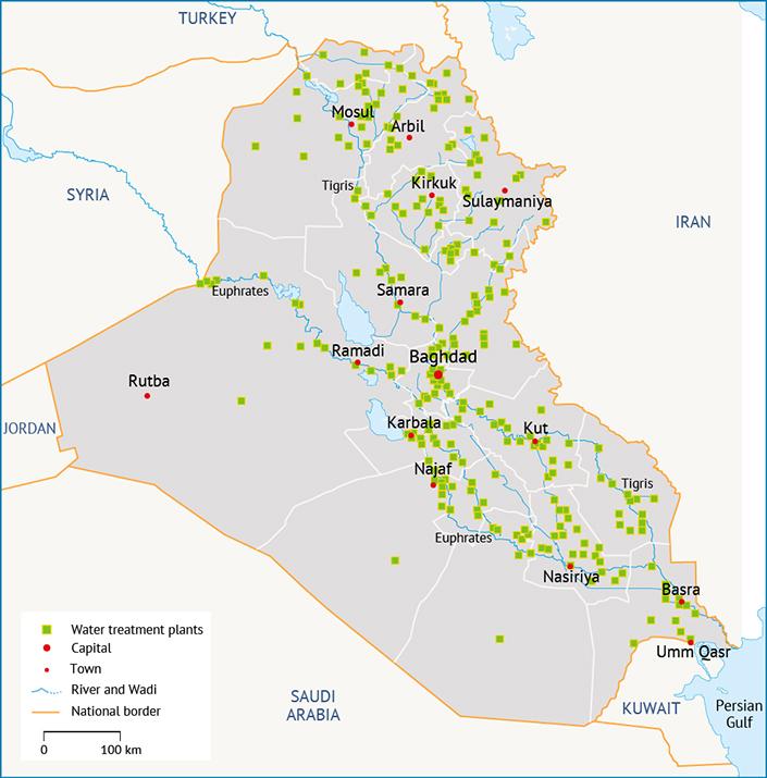 محطات معالجة المياه نوعية المياه في العراق