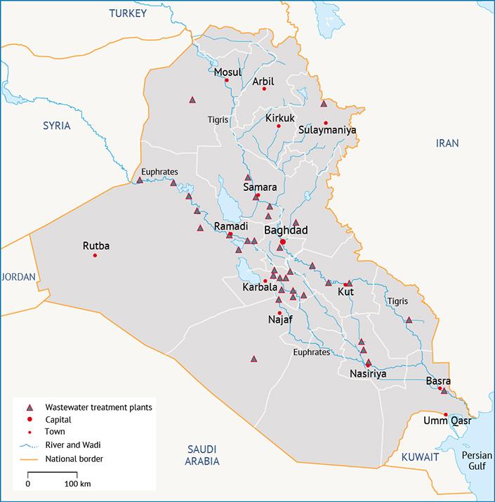 محطات معالجة مياه الصرف الصحي موارد المياه في العراق