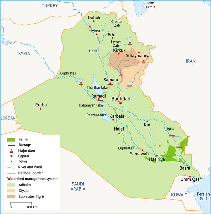 Water Infrastructure in Iraq Reservoir management systems