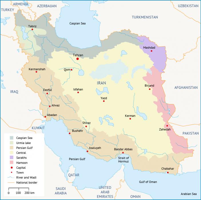 الأحواض الرئيسية في إيران الموارد المائية في إيران