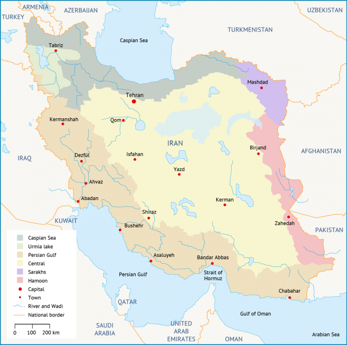 Iran's major basins water resources in Iran