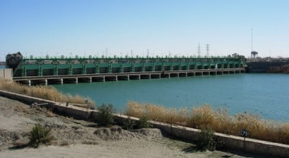 ramadi dam water in Iraq