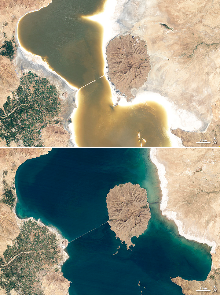 بحيرة أورميا تحديات المياه في إيران