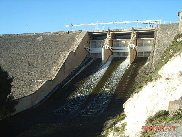 Al Rastan Dam, a major dam on the Asi River.