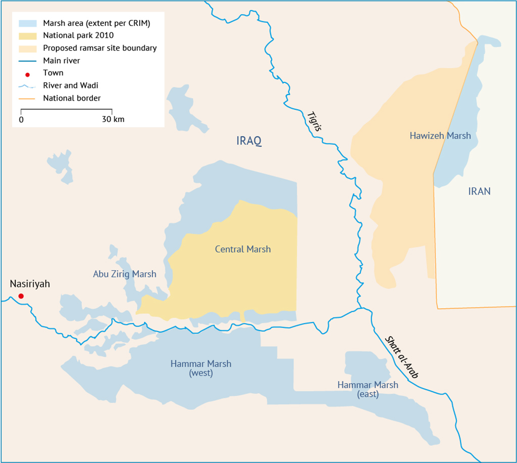 the Hawizeh Marsh within Iraq Outlook