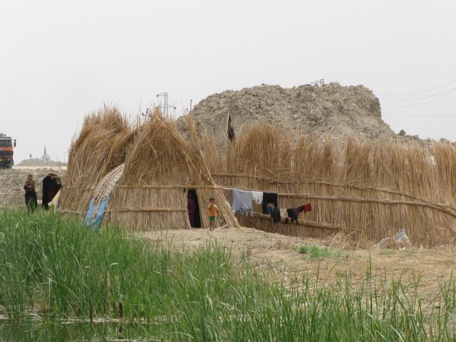 A traditional house in the Iraqi Marshlands