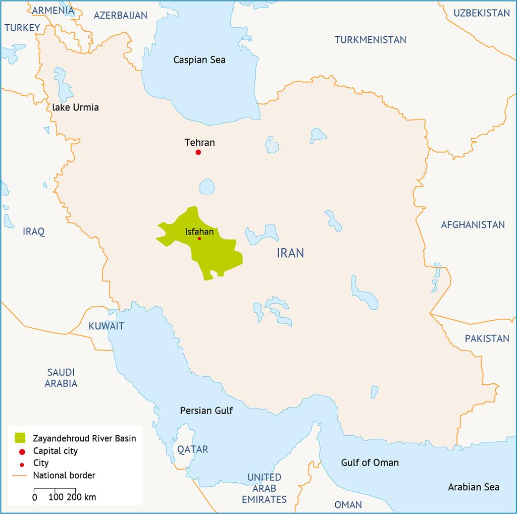 Zayandehroud Map