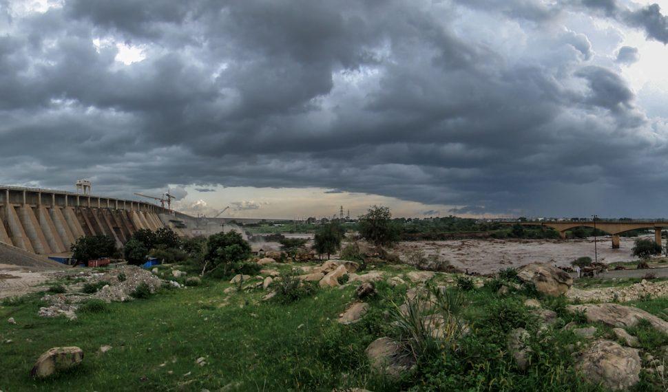 Roseires dam water infrastructure in Sudan