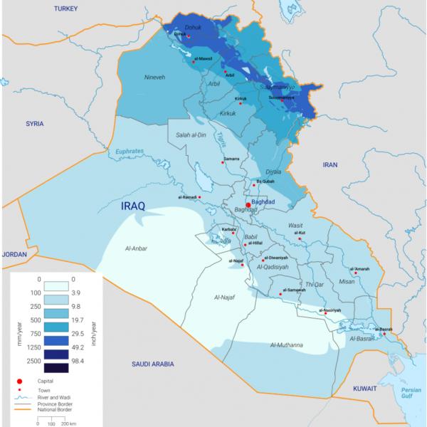 rainfall in Iraq