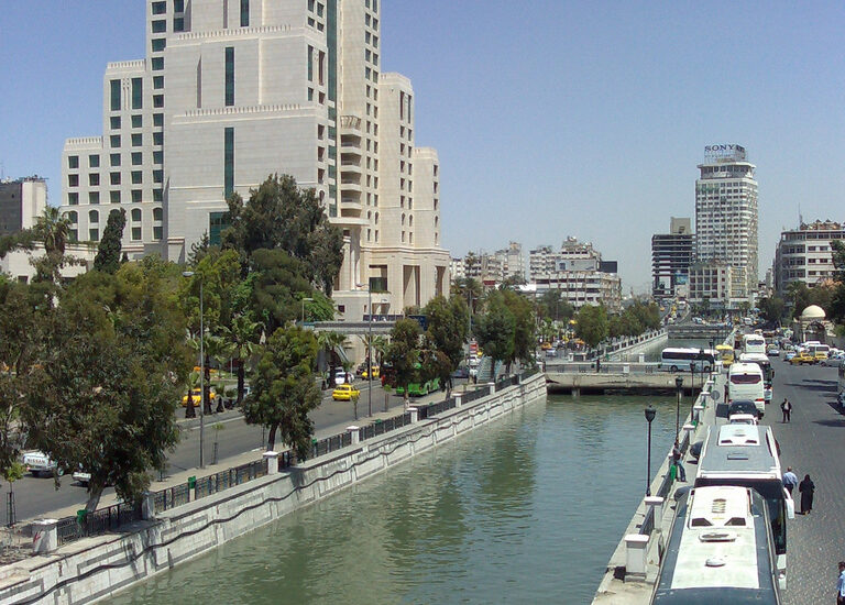 Barada river, Damascus, Water quality in Syria
