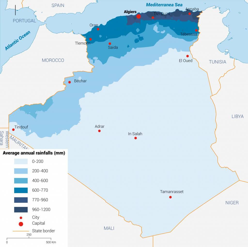 هطول الأمطار الجزائر