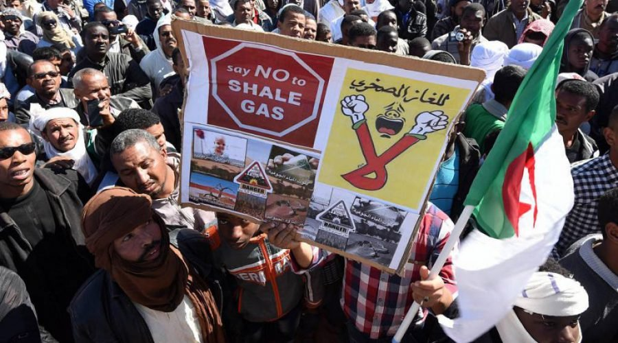 Gas protest algeria
