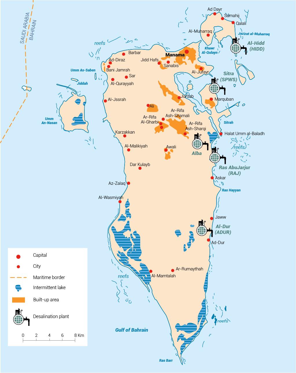 البنُية التحتية للمياه في البحرين