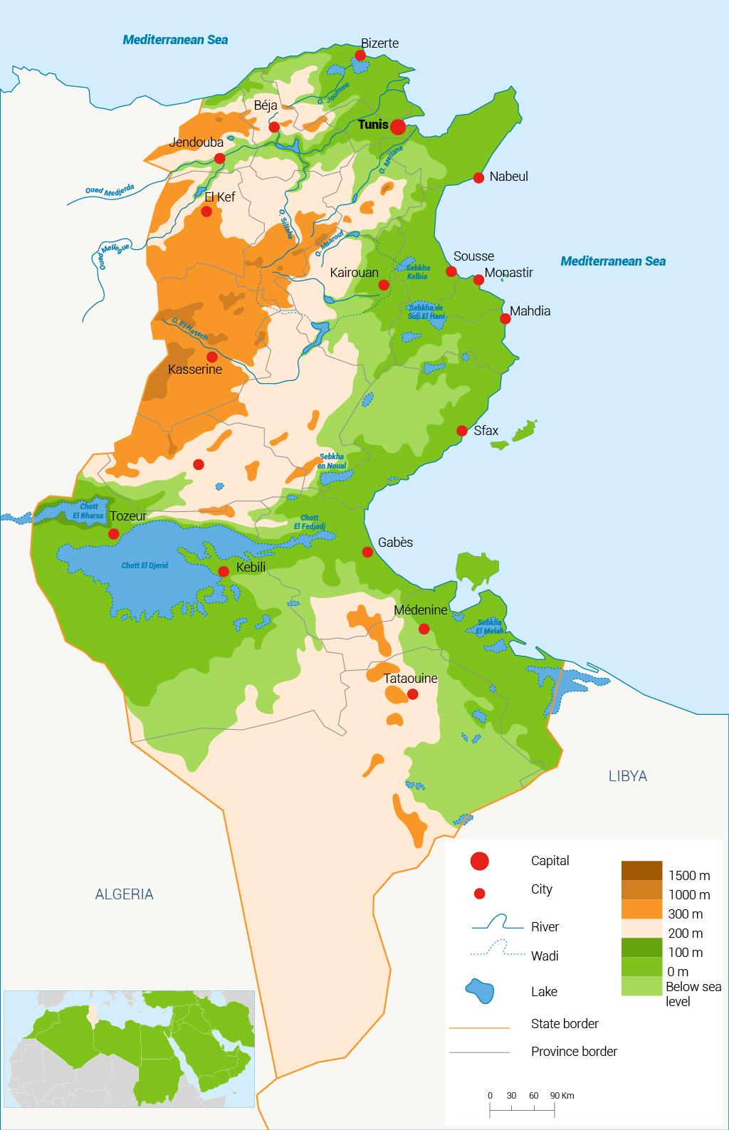 المياه في تونس