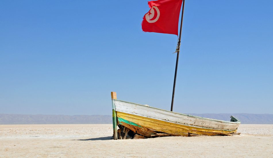 El Djerid beach in Tunisia