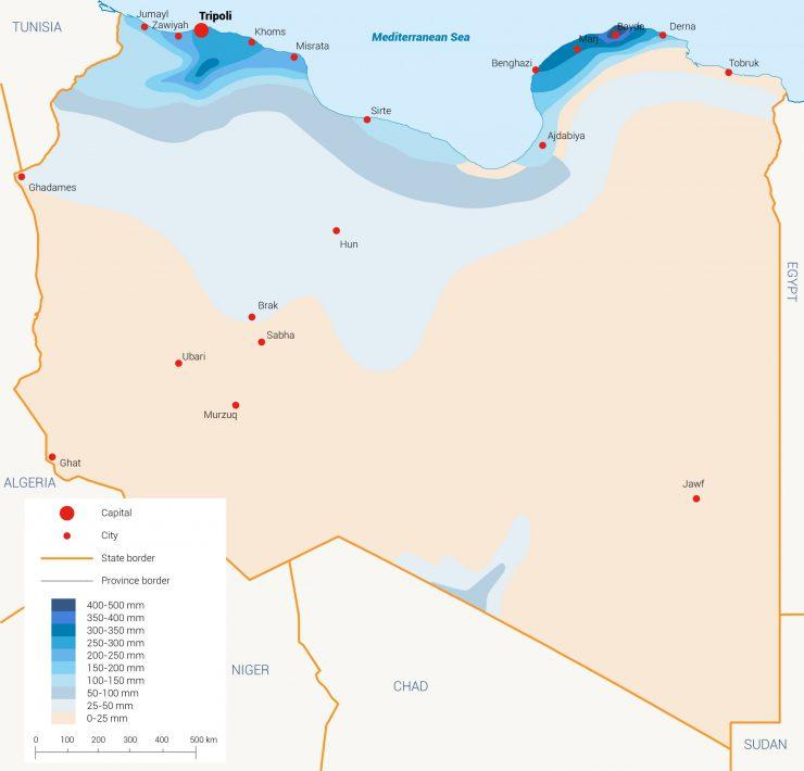 الأمطار ليبيا المياه في ليبيا