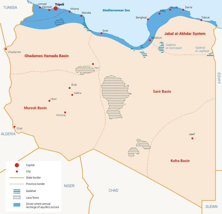 المياه الجوفية في ليبيا الموارد المائية في ليبيا