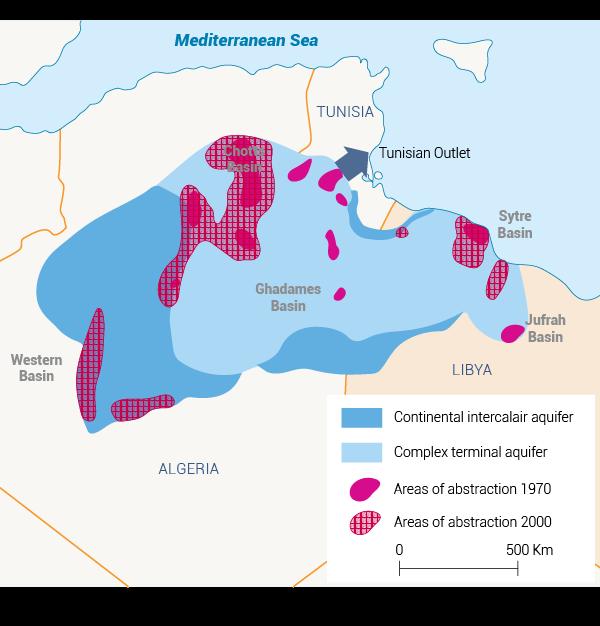 صحراء ليبيا الموارد المائية المشتركة في ليبيا