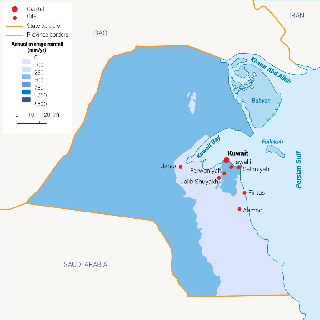 rainfall Kuwait water in Kuwait