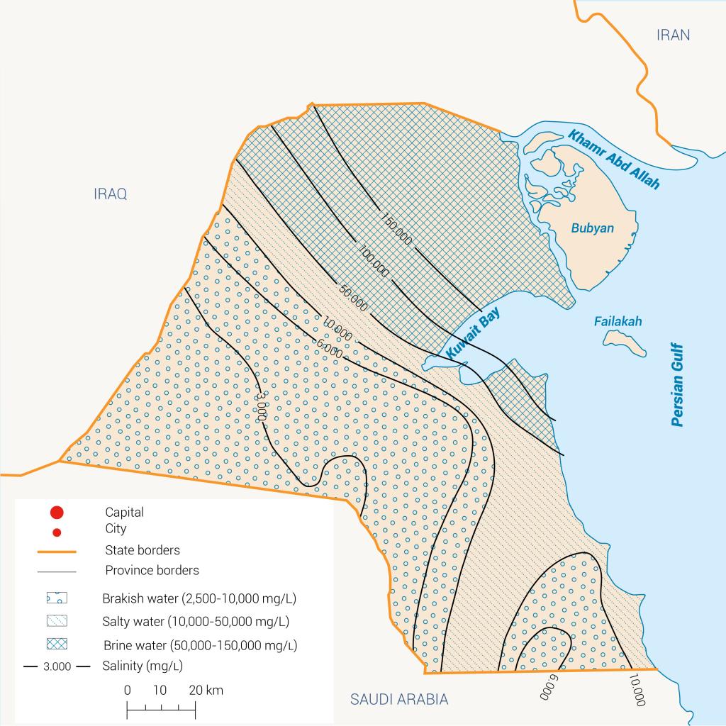 salinity kuwait Water quality in Kuwait