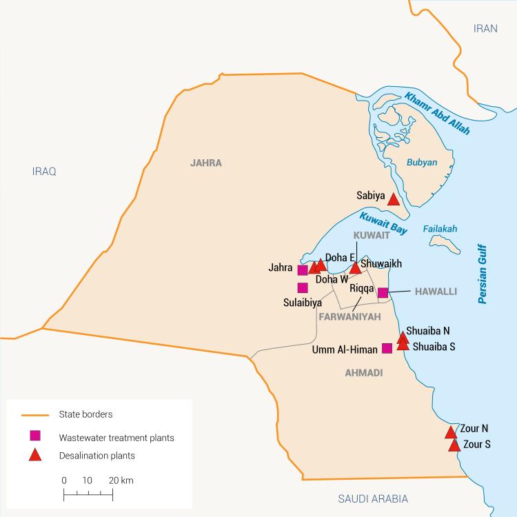 Water infrastrucutre in Kuwait