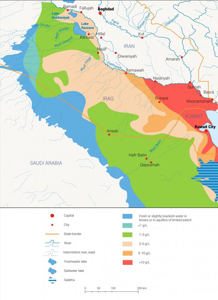 Groundwater salinity kuwait
