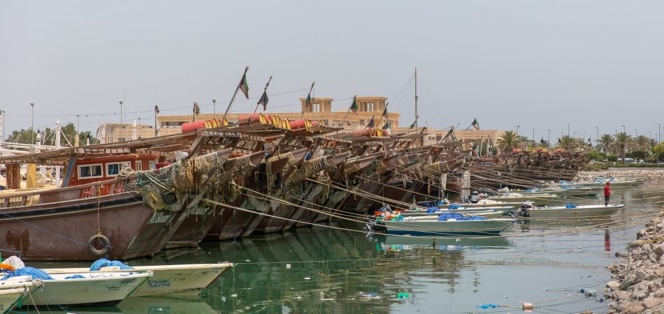 fishing boats Water resources in Kuwait