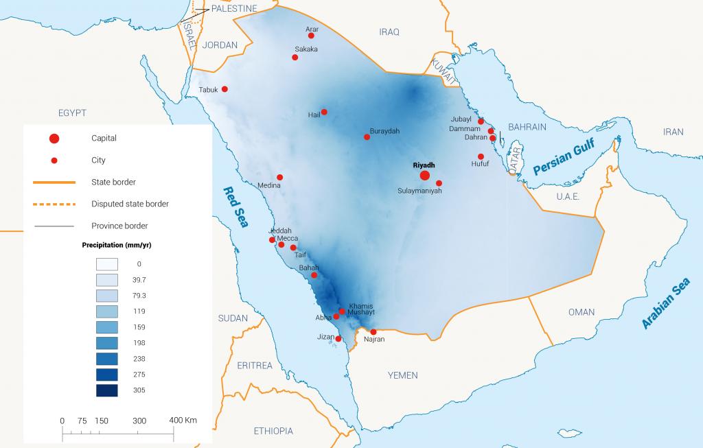 Rainfall in KSA