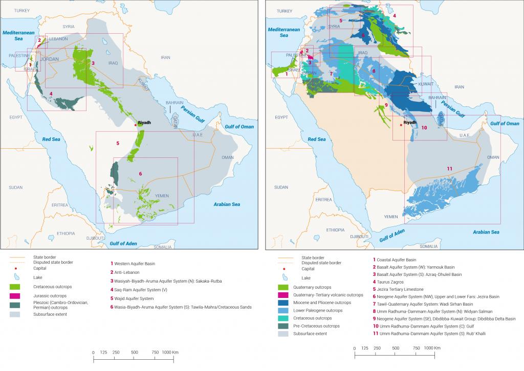 المياه الجوفية السعودية، موارد المياه المشتركة في السعودية