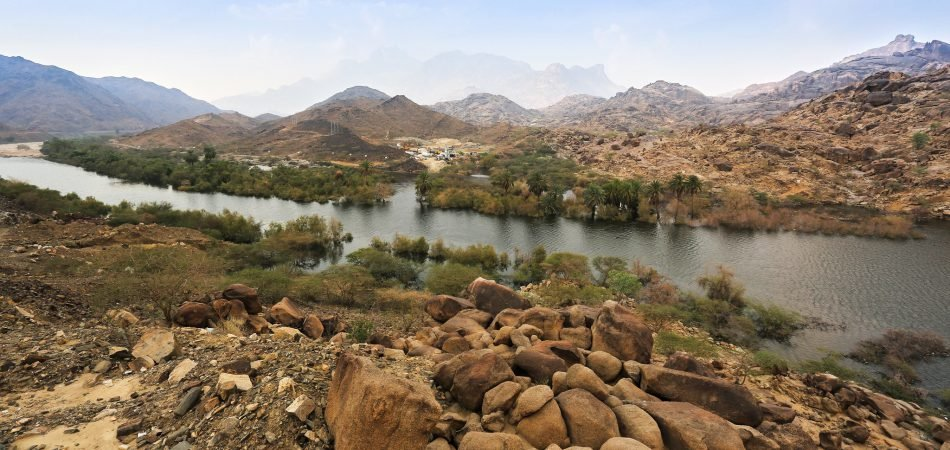 Nawan Dam water resources in KSA