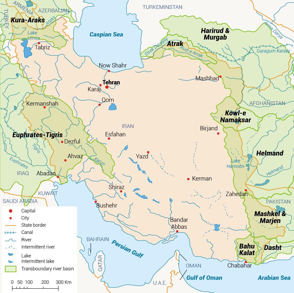 الموارد المائية المشتركة في إيران